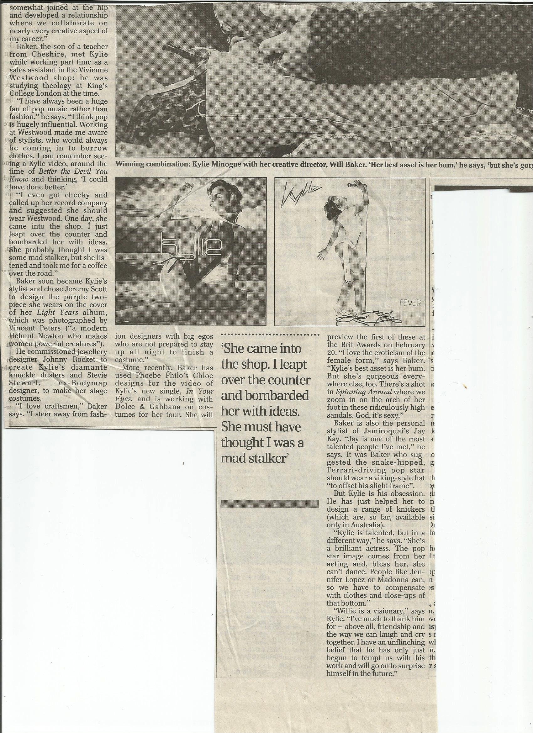 Julia-Robson-Kylie-Minogue-dress designer-Will-Baker-Telegraph-2002-1(of2)
