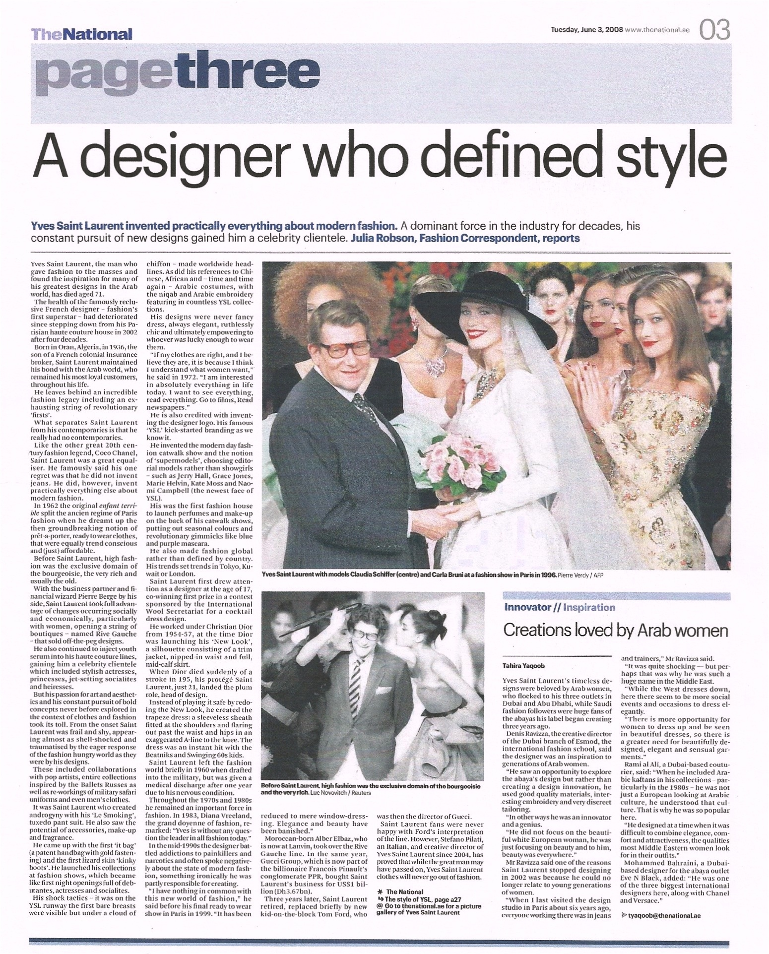Julia-Robson-YSL-obituary-TheNational-June-2008